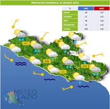 Bollettino Meteo OGGI 22 Marzo 2020 e DOMANI 23 Marzo 2020