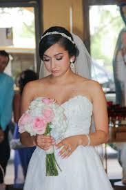 bridal makeup blush tones orange