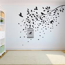 Best Deal Ac89 Tree Wall Decal Sticker Bedroom Tree Of Life Roots Birds Flying Away Home Decor Leaves Falling A7 004 Cicig Co