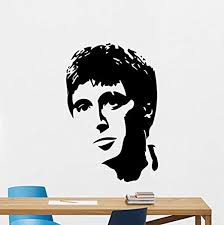 Amazon Com Al Pacino Wall Decal Scarface Vinyl Sticker Bandit Gangster Wall Art Design Housewares Kids Room Bedroom Decor Removable Wall Mural 105rt Home Kitchen
