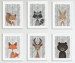 nursery animal prints set