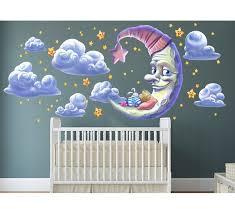 Wall Ah Moon And Star Wall Decal Wayfair