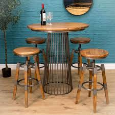 birdcage bar table with 2 swivel stools