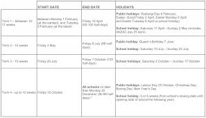 terms holidays for 2019 2020