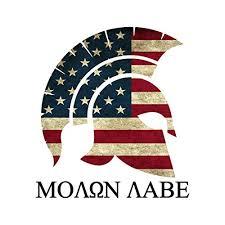 Bargain Max Decals Molon Labe Come Take Them American Flag Import It All