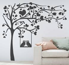 Tree With Hearts Tree Wall Decal Tenstickers