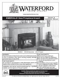 emerald gas fireplace insert regency