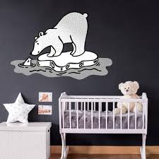 Polar Bear Woodland Fabric Wall Decal Multiple Sizes Kids Etsy