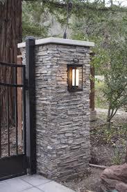 The Gate Pinch Me It S Done Simply Organized Stone Driveway Stone Pillars Driveway Entrance