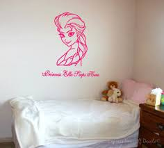 Personalized Princess Frozen Elsa Wall Art For Girls