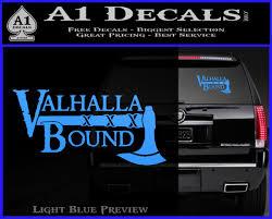 Valhalla Bound Decal Sticker Viking A1 Decals