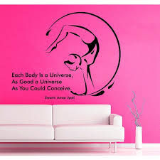 Shop Quotes Gymnast Decal Each Body Is A Universe Vinyl Sticker Home Decor Art Mural Sticker Decal Size 22x26 Color Black Overstock 14285560