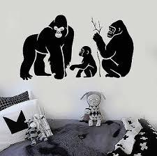 Vinyl Wall Decal Monkey Family Animal Kids Room Stickers Ig3865 Ebay