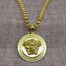 medusa head pendant necklace fon men