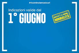 Ordinanza Regione Lombardia - Indicazioni in vigore dal 1 Giugno al 14  Giugno 2020