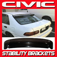 92 95 Honda Civic 4 Door Rear Visor Roof Spoiler Shade With