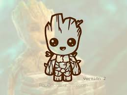 Description 1 Larger Sizes Are Available Please Choose A Size From Drop Down Menu 2 Cus Baby Groot Vinyl Sticker Vinyl Decals