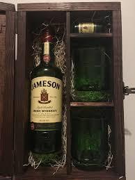 jameson whiskey wood gift box w lid