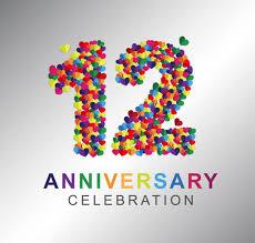 12th Anniversary Free Vector Art - (4 Free Downloads)
