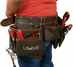 oil tanned leather tool belt pouch bag