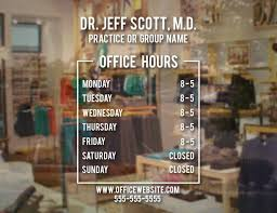 Custom Name Doctor Office Hours Sign Vinyl Decal Simplistic Operation Time Window Glass Door Sticker Waterproof Bh15 Wall Stickers Aliexpress