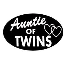 16 10cm Auntie Of Twins Decal Sticker Aunt Gift Twin Cap Shirt Car Accessories Motorcycle Helmet Car Styling Car Stickers Aliexpress