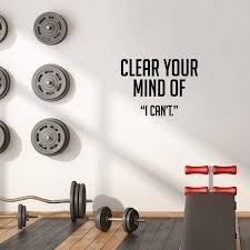 Amazon Com Vinyl Wall Art Decal Clear Your Mind Of I Can T 17 X 23 Inspirational Workplace Bedroom Apartment Decor Decals Positive Indoor Outdoor Home Living Room Office Quotes