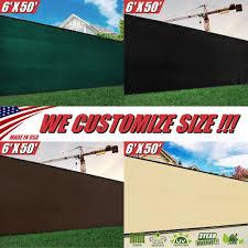 4 Feet Tall Custom Size Order To Make Fence Privacy Screen Windscreen Mesh Green Black Beige Brown Grey White Blue Colourtree
