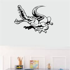 Amazon Com Vinyl Wall Decal Wall Stickers Art Decor Peel And Stick Mural Removable Decals Alligator Crocodile For Nursery Kids Room Home Kitchen