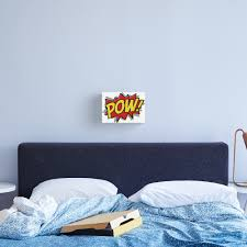 Pow Comic Book T Shirt Canvas Print By Quietcricket Redbubble