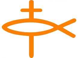 Christian Gold Fish Decal Shiny Gold Symbol