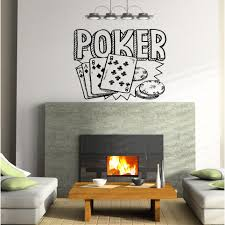 Shop Poker Playing Cards Wall Art Sticker Decal Overstock 11743286