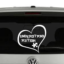 Understand Autism Heart Vinyl Decal Sticker Ebay