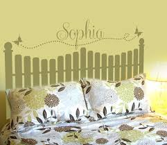 Headboard Decal Vinyl Wall Decal Queen Full Twin Size Bed Wooden Slate Fence Decals Home Wall Sticke On Luulla