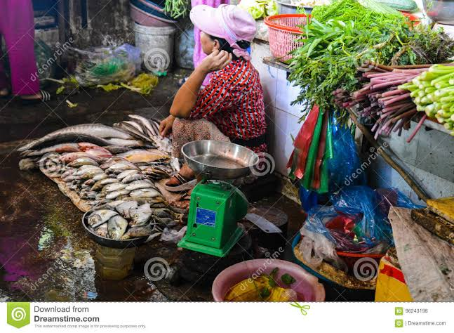 """Image result for PIicture of a fish and vegetable seller"""""""