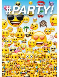 8 Tarjetas De Invitacion Emoji Decoracion Y Disfraces Originales