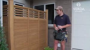 Verda Outdoor Fence Panel Installation Youtube