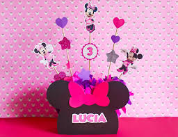 Centro De Mesa Minnie Mouse Party Pop
