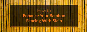 How To Enhance Your Bamboo Fencing With Stain Forever Bamboo