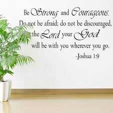 Wall Sticker With Joshua 1 9 Bible Verse Price 9 95 Free Shipping Hashtag3 Scripture Wall Decal Kids Room Wall Stickers Be Strong And Courageous
