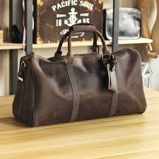 crazy horse leather men s travel bags