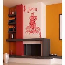 Shop Playing Card Dollar Joker Poker Wall Art Sticker Decal Red Overstock 11889317