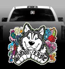 Snow Life Vinyl Decal Siberian Husky Car Vehicle Sticker Rockin Da Dogs