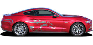 Steed Ford Mustang Pony Door Stripes Horse Decal Side Vinyl Graphic Kit Fits 2015 2016 2017 2018 2019 2020 Moproauto Professional Vinyl Graphics And Striping