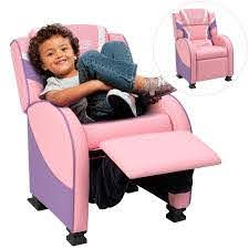 Walnew Kids Recliner Chair Lounge Furniture For Boys Girls Pu Leather Single Living Bed Room Chair Children Sofa Pink Walmart Com Walmart Com