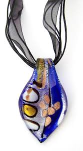 murano glass pendant necklace with free