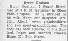 Obituary for Byron Graham - Newspapers.com