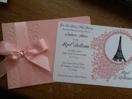 50 Pretty Pink Sweet 16 Quinceanera Paris Eiffel Tower Invitations