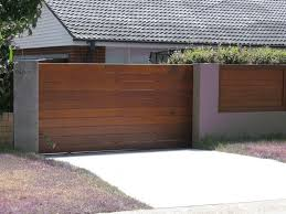 Wood Fence Timber Gates Modern Driveway Wood Fence
