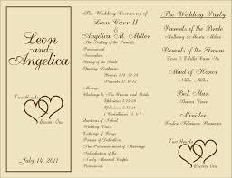 templates printable wedding ceremony